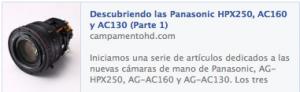Panasonic HPX250, AC160 y AC130 para productoras audiovisuales madrid